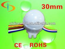 3pcs SMD5050 12V waterproof 30mm Programming led pixel light, rgb led pixel UCS1903