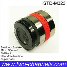 Super Bass Metal Wireless Mini Speaker with FM/Micro SD function(STD-M323J)