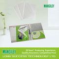 11 saco buraco/escritório papelaria pp folha protetor/protetor de tela folha