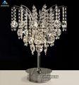 Mesa de cristal de luz de casamento decoração de mesa