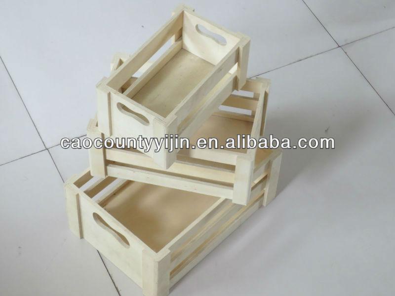 madeira caixas de frutas de tamanho