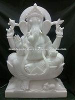 white marble religious statues