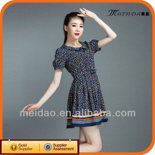 2013 Hot Selling Summer Short Ladies 100% Rayon Dresses