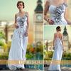 DORISQUEEN 2013 new free shipping fashion sexy spaghetti strap beaded flowers falbala white wedding dress 30637