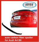 3pieces fiber carbon car truck rear spoiler for 08-12 Audi A4 B8