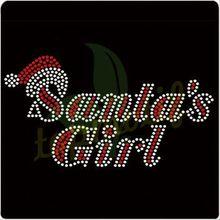 Hotsale Santa's Girl Crystal Rhinestone Mesh for T-shirt
