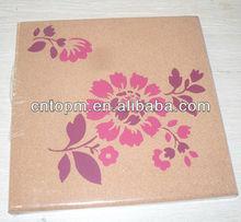 Decorative silkscreen hot-selling square soft cork memo board for office and home