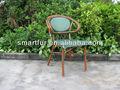 Empilhável rodada de bambu cadeiras
