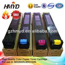 MX31FT MX31CT MX31JT MX31NT MX31GT Remanufactured color toner cartridge for Sharp MX2600N MX3100N