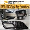 2013 Facelift A4 B9 Fog light covers,A4 RS4 Grille Grid All Black For Audi A4 B9