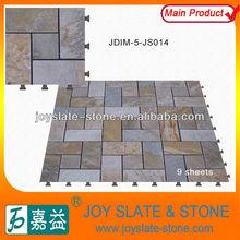 Patent anti slip outdoor floor tiles