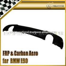 For BMW E90 M-Tech Carbon Fiber Rear Lip (Twin Exhaust)