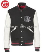 mens wool/leather baseball varsity jacket LZ214