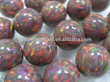Synthetic Opal Round Bead (Brown) Kyocera