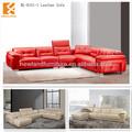 Longjiang Shunde Newland fábrica de móveis 2013 nova couro moderno sofá de canto vermelho ( NL-H161-1 )