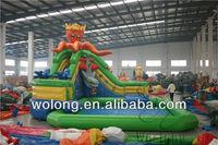 inflatable water slide with pool Octopus water slide