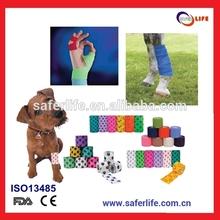 2013 atacado esportes dedo médica adesivo elástico animal tearable coesa bandagem tapeing