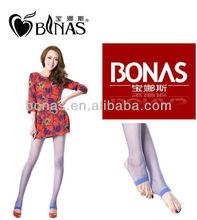 15D core-spun yarn colorful trample feet socks/tights/sexy transparent pantyhose
