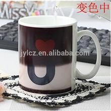 ceramic color change magic mug