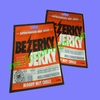 printing heat seal plastic beef jerky packaging bag with window