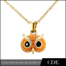 18k gold plated cute couple necklace pendant