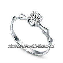 Personalized design 2013 fashion jewelry 925 sterling siliver diamond Wedding rings