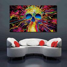 Skull Abstract Design Canvas Wall Art