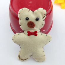 3-6 Handmade Wool Felt Animals bear For Garment Decoration