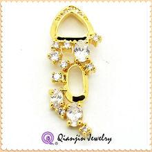 2014 fashion jewelry zircon setting charm pendant
