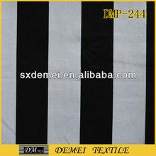 100% cotton black white striped canvas fabric