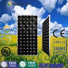 High efficiency best price mono 200w solar panel digital solar power meter in China