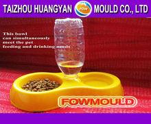 Double use plastic pet bowl mold