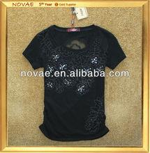 Wholesale cheap custom pure cotton t shirts, round neck fashion soft summer new design girls t shirts