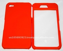 Rubberized cell phone Case Cover for Apple Iphone 4