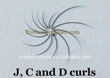 J, C and D curls Individual Eyelash