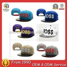 qianzun customized two tone fashion design leather snapback hats custom