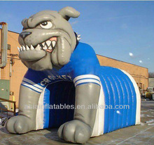 Inflatable dog model tunnel for high school sports, 2014 hot inflatable tunnel tent for event