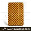 Special trellis pattern design genuine leather case for ipad mini