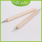 BQAN Original Wood Double End or Single Side Nail Dotting Tool Kit Nail Art