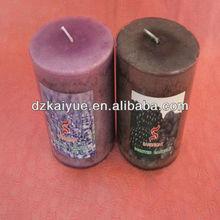 Flameless multi-color pillar candles
