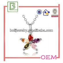 Sea Star Shape Crystal Necklace /Pendant