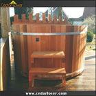 wood fired hot pot wooden barrel bath tub