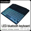 Ultra Thin Magnet LED Backlight Bluetooth led keyboard for ipad