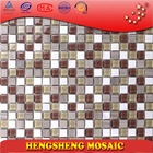 steel decor tile china high quality glass mosaic kitchen wall tile