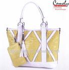 Comely handbag 2015 handbag factories in China china manufacturer bag yellow lady bag set lady handbag materials to make purses
