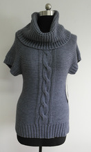 Short sleeves woolen sweater new designs for ladies