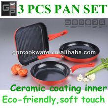 ceramic frying pan set-3pcs