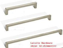 New modern aluminium square pull handles stainless steel handles
