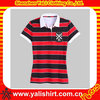 Good quality customed embroider women polo shirt design with combination