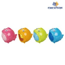 Funny plastic school sharpener with container Emersson 1pcs in blister